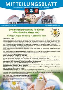 Mitteilungsblatt 24/2020