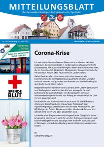 Mitteilungsblatt 16/2020