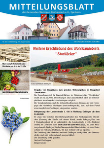 Mitteilungsblatt 36/2020