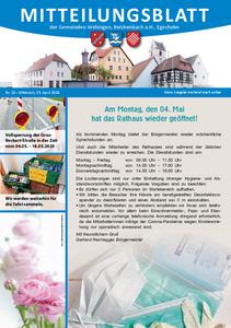 Mitteilungsblatt 18/2020