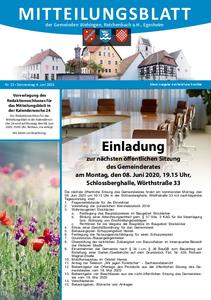 Mitteilungsblatt 23/2020