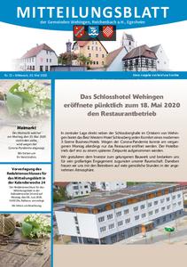 Mitteilungsblatt 21/2020