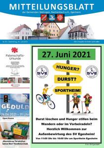 Mitteilungsblatt 25/2021