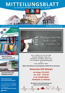 Mitteilungsblatt 13/2020